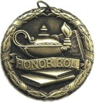 Sch Honor Roll Medal -- XR0-1254-S Academic Awards