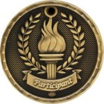 Participant Medal -- 3D0-3306 Bowling Awards