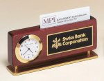 Card Holder Clock -- BC0-4893-S Business Card Holder