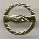 Handshake Pin -- CL0-973-C Chenille Pins
