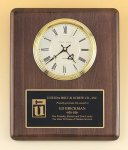 Walnut Wall Clock Plaque -- BC0-458-C Corporate Executive Awards