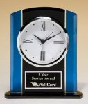 Glass Desk Clock -- BC0-4973 Crystal & Glass Awards