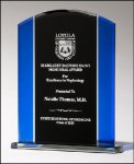 Blue/Black Glass Award --  G20-4657 Crystal & Glass Awards