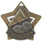 Cheer Star Medal -- XS0-1215-C Engraved Medals and Dogtags