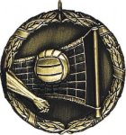 Volleyball Medal -- XR0-1224 Engraved Medals and Dogtags