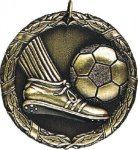 Soccer Medal. -- XR0-1214 Engraved Medals and Dogtags