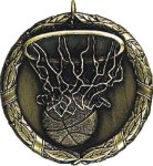 Basketball Medal -- XR0-1211 Engraved Medals and Dogtags