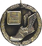 Track Foot Medal -- XR0-1216 Engraved Medals and Dogtags