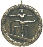 Gymnastics Medal -- XR0-1246-S Engraved Medals and Dogtags