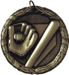 Baseball Medal -- XR0-1200-S Engraved Medals and Dogtags