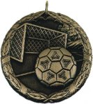 Soccer Goal Medal -- XR0-1213-S Engraved Medals and Dogtags
