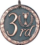 3rd Place Medal -- XR0-1283 Engraved Medals and Dogtags