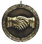 Handshake Medal -- XR0-1293 Engraved Medals and Dogtags