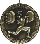 Weightlifting Medal -- XR0-1266 Engraved Medals and Dogtags