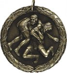 Wrestling Medal -- XR0-1262 Engraved Medals and Dogtags