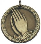 Faith Praying Medal -- XR0-1277-C Engraved Medals and Dogtags