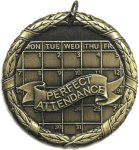 Attendance Medal -- XR0-1255-S Engraved Medals and Dogtags