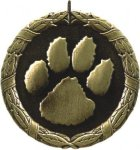 Paw Print Medal -- XR0-1292 Engraved Medals and Dogtags