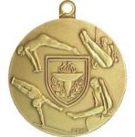Gymnastics Medal -- I20-86-C Engraved Medals and Dogtags