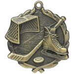 Hockey Medal. -- 323-7200-C Engraved Medals and Dogtags
