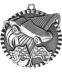 Pinewood Car Medal -- G20-28M12-C Engraved Medals and Dogtags