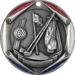 Golf FM Medal -- 700-772-TC Engraved Medals and Dogtags