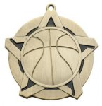Basketball Medal -- 430-1020-S Engraved Medals and Dogtags