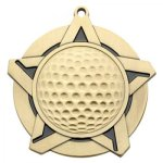 Golf SS Medal. -- 430-1060-S Engraved Medals and Dogtags