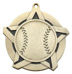 Baseball SS Medal -- 430-1130-S Engraved Medals and Dogtags
