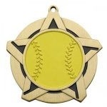 Softball SS Medal -- 430-1131-S Engraved Medals and Dogtags
