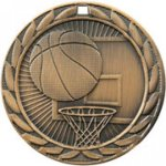 Basketball Medal -- FE0-1211 Engraved Medals and Dogtags