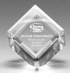 Glass Cube Award -- CR0-3Y0-T Paperweights