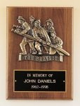 Fireman Plaque -- P30-4X-S Patriotic Awards