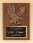 Eagle Walnut Plaque -- P10-4784-S Patriotic Awards