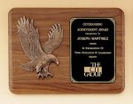 Eagle Walnut Plaque -- P10-4683-S Patriotic Awards
