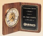 Walnut Desk Clock -- BC0-48-S Table Top Clocks