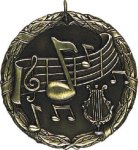 Music XR Medal -- XR0-1230 The Arts - Music, Drama, etc.