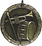 Music Band Medal -- XR0-1231-S The Arts - Music, Drama, etc.