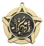 Music SS Medal -- 430-1120-S The Arts - Music, Drama, etc.
