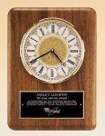 Walnut Wall Clock.-- BC0-4888-S Wall Clock Plaques