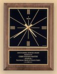 Walnut Wall Clock -- BC0-425X-S Wall Clock Plaques