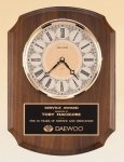 Walnut Wall Clock.-- BC0-4380-S Wall Clock Plaques