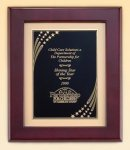 Rosewood Frame Plaque -- P40-4454-S Wood Plaques