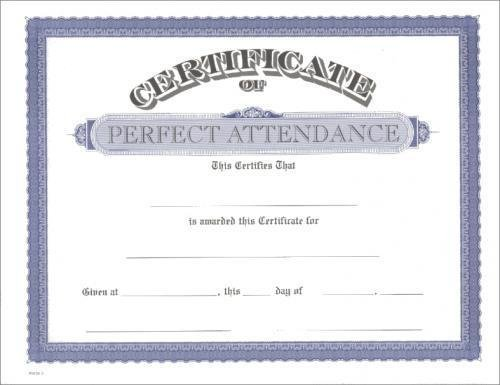 Pics Photos - Perfect Attendance Certificates Express Projects