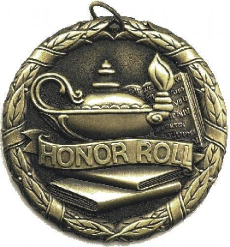 Sch Honor Roll Medal -- XR0-1254-S Engraved Medals and Dogtags
